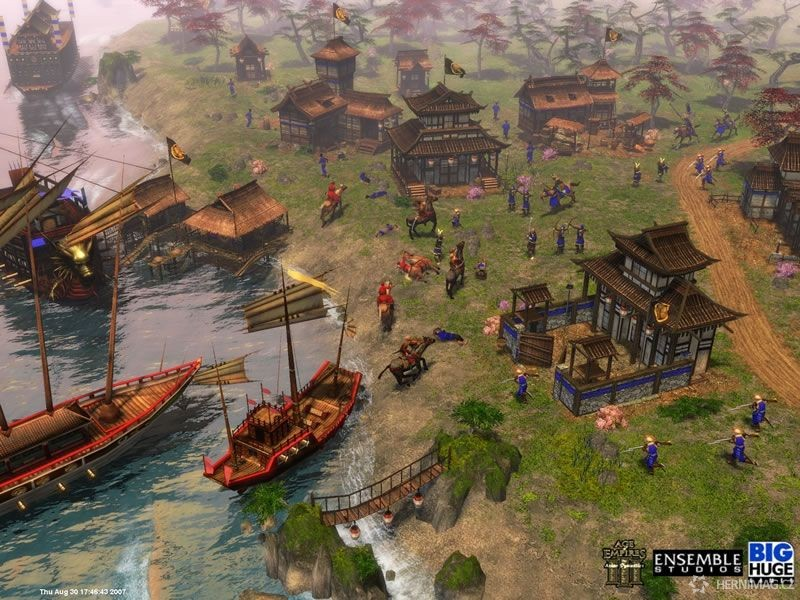 Vylodění v přístavu – Age of Empires III: The Asian Dynasties