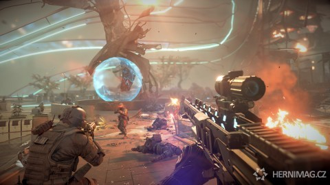 Gameplay obrázek z Killzone: Shadow Fall